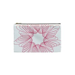 Spirograph Pattern Drawing Design Cosmetic Bag (small)
