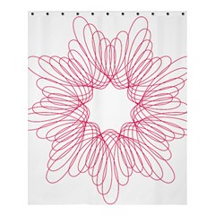 Spirograph Pattern Drawing Design Shower Curtain 60  X 72  (medium)  by Nexatart