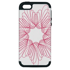Spirograph Pattern Drawing Design Apple Iphone 5 Hardshell Case (pc+silicone)