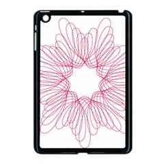 Spirograph Pattern Drawing Design Apple Ipad Mini Case (black) by Nexatart