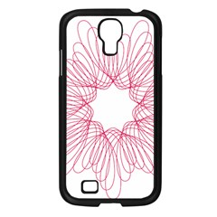 Spirograph Pattern Drawing Design Samsung Galaxy S4 I9500/ I9505 Case (black) by Nexatart
