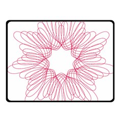 Spirograph Pattern Drawing Design Double Sided Fleece Blanket (small)