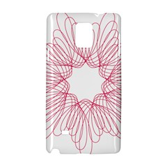 Spirograph Pattern Drawing Design Samsung Galaxy Note 4 Hardshell Case by Nexatart