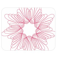 Spirograph Pattern Drawing Design Double Sided Flano Blanket (medium)  by Nexatart