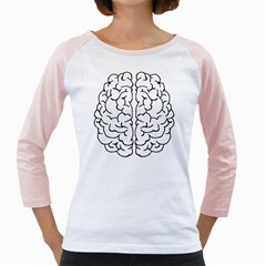 Brain Mind Gray Matter Thought Girly Raglans