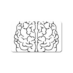 Brain Mind Gray Matter Thought Magnet (name Card) by Nexatart