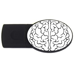 Brain Mind Gray Matter Thought Usb Flash Drive Oval (2 Gb) by Nexatart