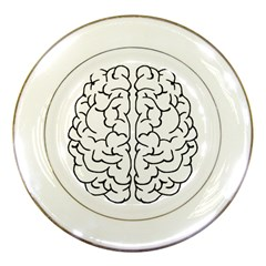 Brain Mind Gray Matter Thought Porcelain Plates by Nexatart