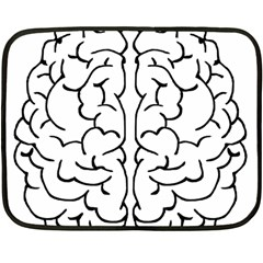 Brain Mind Gray Matter Thought Double Sided Fleece Blanket (mini)  by Nexatart