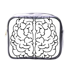 Brain Mind Gray Matter Thought Mini Toiletries Bags