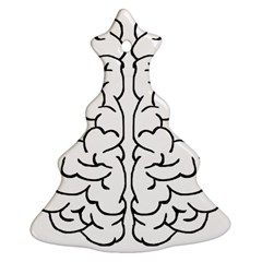 Brain Mind Gray Matter Thought Christmas Tree Ornament (two Sides) by Nexatart
