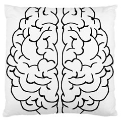 Brain Mind Gray Matter Thought Large Cushion Case (one Side) by Nexatart