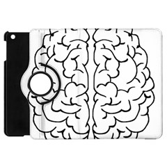 Brain Mind Gray Matter Thought Apple Ipad Mini Flip 360 Case by Nexatart