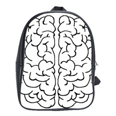 Brain Mind Gray Matter Thought School Bags (xl)  by Nexatart