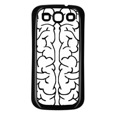 Brain Mind Gray Matter Thought Samsung Galaxy S3 Back Case (black)