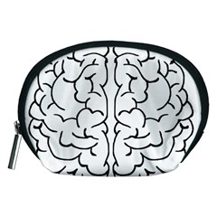 Brain Mind Gray Matter Thought Accessory Pouches (medium)  by Nexatart