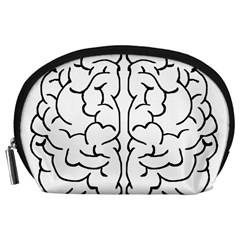 Brain Mind Gray Matter Thought Accessory Pouches (large)  by Nexatart