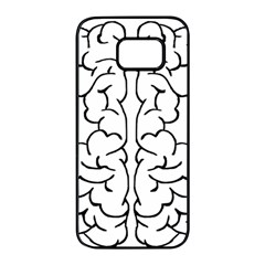 Brain Mind Gray Matter Thought Samsung Galaxy S7 Edge Black Seamless Case by Nexatart