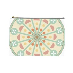 Blue Circle Ornaments Cosmetic Bag (large)