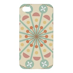 Blue Circle Ornaments Apple Iphone 4/4s Premium Hardshell Case