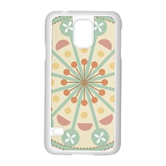 Blue Circle Ornaments Samsung Galaxy S5 Case (white) by Nexatart