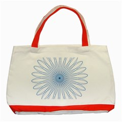 Spirograph Pattern Circle Design Classic Tote Bag (red) by Nexatart