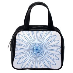 Spirograph Pattern Circle Design Classic Handbags (one Side) by Nexatart