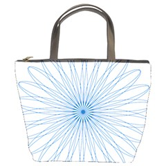 Spirograph Pattern Circle Design Bucket Bags
