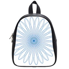Spirograph Pattern Circle Design School Bags (small)  by Nexatart