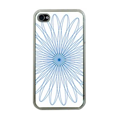 Spirograph Pattern Circle Design Apple Iphone 4 Case (clear) by Nexatart