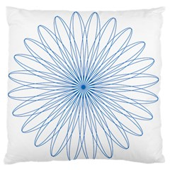 Spirograph Pattern Circle Design Large Flano Cushion Case (two Sides) by Nexatart