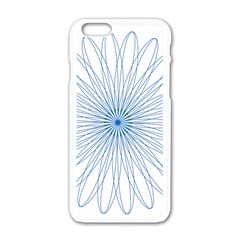 Spirograph Pattern Circle Design Apple Iphone 6/6s White Enamel Case by Nexatart