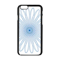 Spirograph Pattern Circle Design Apple Iphone 6/6s Black Enamel Case by Nexatart