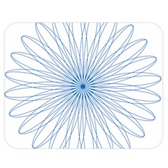 Spirograph Pattern Circle Design Double Sided Flano Blanket (medium)  by Nexatart