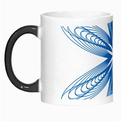 Blue Spirograph Pattern Circle Geometric Morph Mugs by Nexatart
