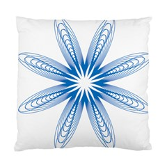 Blue Spirograph Pattern Circle Geometric Standard Cushion Case (two Sides) by Nexatart