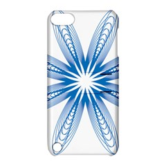 Blue Spirograph Pattern Circle Geometric Apple Ipod Touch 5 Hardshell Case With Stand by Nexatart