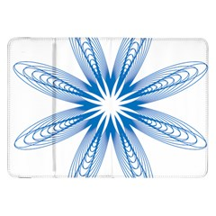 Blue Spirograph Pattern Circle Geometric Samsung Galaxy Tab 8 9  P7300 Flip Case