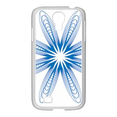Blue Spirograph Pattern Circle Geometric Samsung Galaxy S4 I9500/ I9505 Case (white) by Nexatart