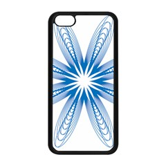Blue Spirograph Pattern Circle Geometric Apple Iphone 5c Seamless Case (black) by Nexatart