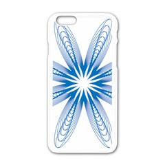 Blue Spirograph Pattern Circle Geometric Apple Iphone 6/6s White Enamel Case by Nexatart