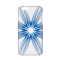 Blue Spirograph Pattern Circle Geometric Apple Iphone 6/6s Hardshell Case by Nexatart