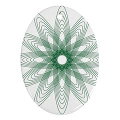 Spirograph Pattern Circle Design Oval Ornament (two Sides) by Nexatart