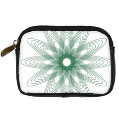 Spirograph Pattern Circle Design Digital Camera Cases by Nexatart