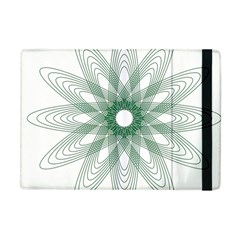 Spirograph Pattern Circle Design Apple Ipad Mini Flip Case by Nexatart