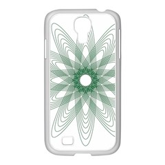Spirograph Pattern Circle Design Samsung Galaxy S4 I9500/ I9505 Case (white) by Nexatart