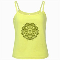 Art Coloring Flower Page Book Yellow Spaghetti Tank