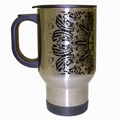 Art Coloring Flower Page Book Travel Mug (silver Gray)