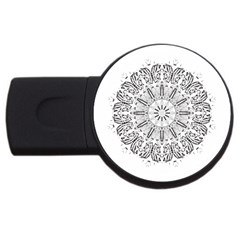 Art Coloring Flower Page Book Usb Flash Drive Round (4 Gb) by Nexatart