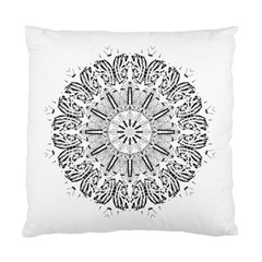 Art Coloring Flower Page Book Standard Cushion Case (two Sides) by Nexatart